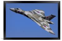 Avro Vulcan Bomber XH558 at RIAT Air Show, Framed Print