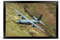RAF Hercules low level, Framed Print