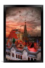 Gaudis Sunrise, Framed Print