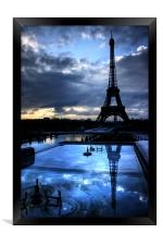 An Eiffel Reflection, Framed Print