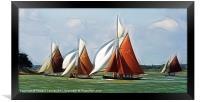 Essex oyster smacks fractal 2, Framed Print