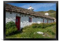 Manx Tholtan Cottages, Framed Print