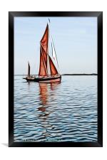 Thames barge reflection 2, Framed Print