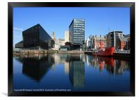 Liverpool reflections, Framed Print