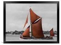Thames Barge Repertor, Framed Print