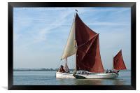 Thames Barge Reminder, Framed Print