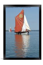 Thames Barge Cambria, Framed Print