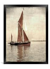 Thames barge Repertor , Framed Print