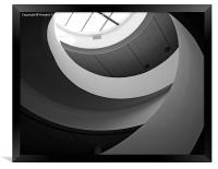 Liverpool staircase B&W, Framed Print