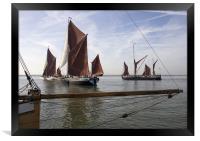Maldon Barge Match 2010, Framed Print