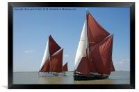 Thames barges Edith May and Niagara, Framed Print