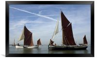 Maldon Barge Match 2010, Framed Print