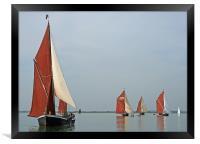 Barge Match 2008, Framed Print