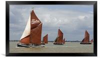 Maldon Barge Match 2011, Framed Print