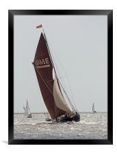 Thames Barge Edme, Framed Print