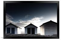 Southwold beach huts in winter, Framed Print