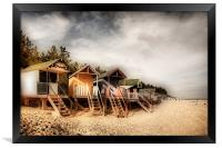 Beach Huts at Wells, Framed Print