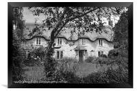 Thatched Roof Cottage, Framed Print