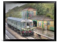 Corfe Castle Railway Station, Framed Print
