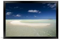 The Beach - Aitutaki, Framed Print