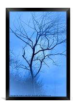 A shade of Blue, Framed Print