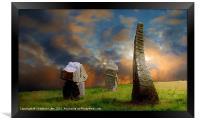 Sunset Stones, Framed Print