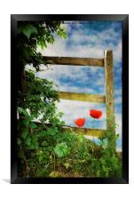 Over the Garden Gate, Framed Print