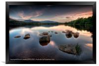 Loch Morlich - Sunset, Framed Print
