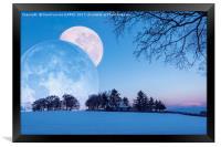 Winter Solstice Fantasy, Framed Print
