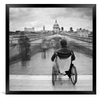Invisible ..... Millennium Bridge, London, Framed Print