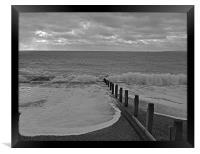 Waves at Hayling Island, Framed Print