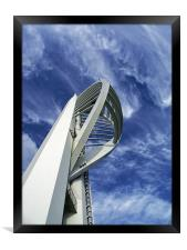 Spinnaker Tower - Side View, Framed Print