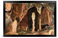 Cave Formations, Framed Print