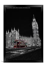 London Bus, Framed Print