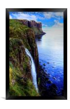 The Mealt Waterfall, Framed Print
