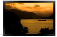 Loch Linnhe Sunrise,, Framed Print