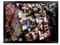Coloured rocks, Framed Print