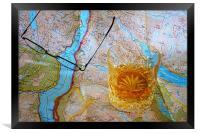 Map Reading, Framed Print