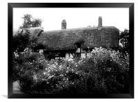 Cottage B&W, Framed Print