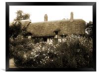 Cottage (Sepia), Framed Print