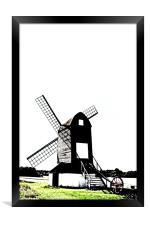 Windmill, Framed Print