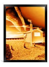 Beach Hut, Framed Print