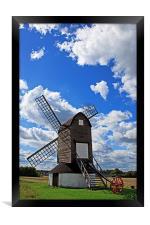 Pitstone Windmill, Framed Print