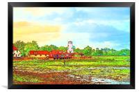 Langstone Mill – Pastel Sketch, Framed Print