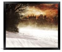 St lukes in the snow, Framed Print