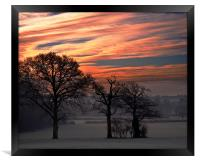Sun Rise over Chiddingstone, Framed Print