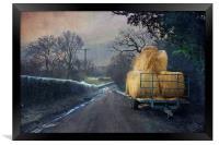 Down the lane, Framed Print