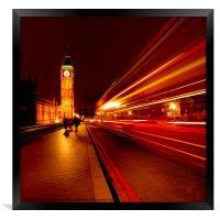London Bus to Big Ben, Framed Print