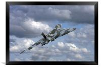 Avro vulcan bomber xh558 at Abingdon air show., Framed Print
