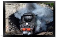 Manston 34070 Swanage railway, Framed Print